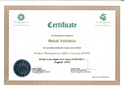 Project Management Office Certificate